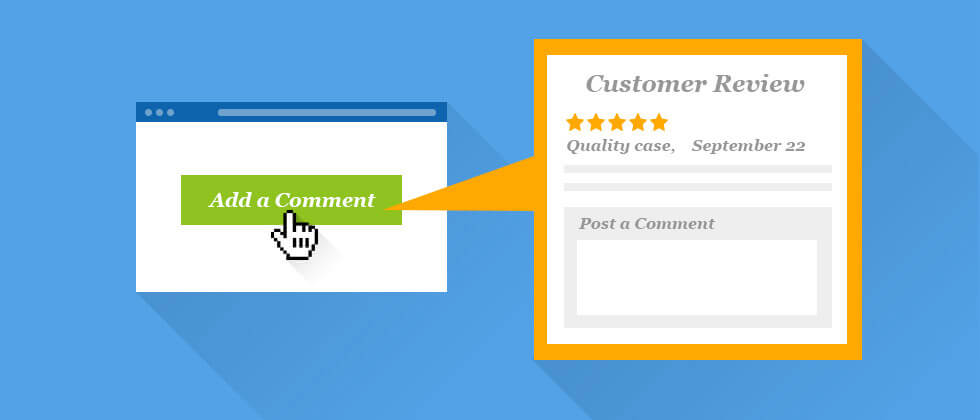 post a comment underneath the reviews on amazon and interact with you customers.-BQool